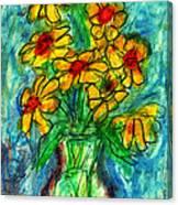Garden Flower Mono-print Canvas Print