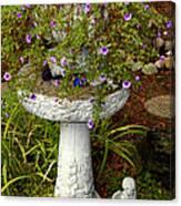 Garden Flowering Pot Canvas Print