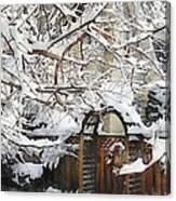 Garden Gate In Winter Canvas Print