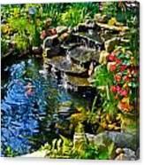 Garden Goldfish Pond Canvas Print