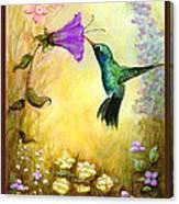 Garden Guest In Brown Canvas Print
