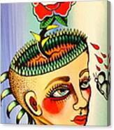 Garden Head Canvas Print