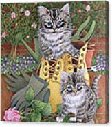 Garden Helpers  Canvas Print