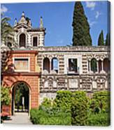 Garden In Alcazar Palace Of Seville Canvas Print