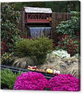 Garden Miniature Train Canvas Print