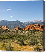 Garden Of The Gods And Pikes Peak - Colorado Springs Canvas Print