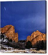Garden Of The Gods Star Storm Canvas Print
