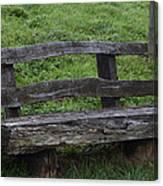 Garden Park Bench Canvas Print