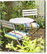 Garden Seating Area Canvas Print