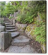 Garden Stair Steps With Natural Rocks Canvas Print