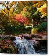 Garden Stream Canvas Print