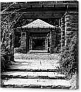 Garden Structure 1bw Canvas Print