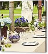 Garden Wedding Table Setting Canvas Print