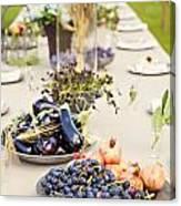 Garden Wedding Table Canvas Print