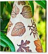 Garden Leaf Pattern Windchime Canvas Print