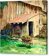 Gardening Shed Canvas Print