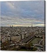 Gargoyle And The Eiffel Tower Canvas Print