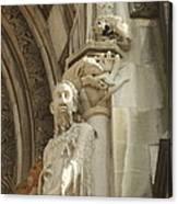 Gargoyle And The Lamb Canvas Print
