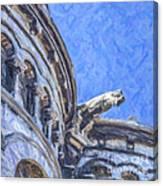 Gargoyle On Sacre Coeur Canvas Print