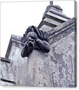 Gargoyle On The Italian Vault Canvas Print