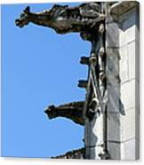 Gargoyles In A Row Canvas Print
