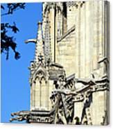 Gargoyles Of Notre Dame De Paris Canvas Print
