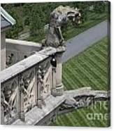 Gargoyles On Roof Of Biltmore Estate Canvas Print