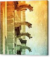 Gargoyles With Textures And Color Canvas Print