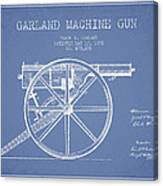 Garland Machine Gun Patent Drawing From 1892 - Light Blue Canvas Print