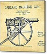 Garland Machine Gun Patent Drawing From 1892 - Vintage Canvas Print