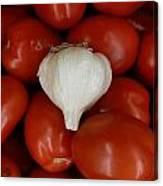 Garlic And Tomatoes Canvas Print