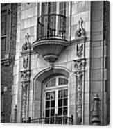 Garrison Hall Window Ut Bw Canvas Print