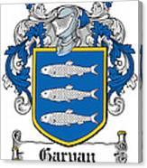 Garvan Coat Of Arms Irish Canvas Print