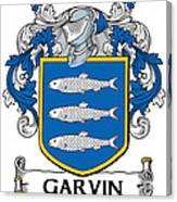 Garvin Coat Of Arms Irish Canvas Print