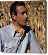 Gary Cooper In Profile Canvas Print