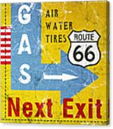 Gas Next Exit- Route 66 Canvas Print