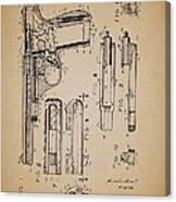 Gas Operated Semi-automatic Pistol Canvas Print
