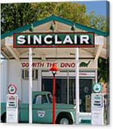 Gas Station And Truck Canvas Print