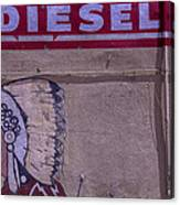 Gas Station Indian Chief Canvas Print