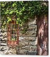 Gate And Window Canvas Print