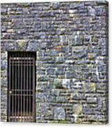 Gate Entrance On Stone Wall Canvas Print