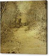 Gate In Snow Canvas Print