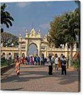 Gate To Maharaja's Palace India Mysore Canvas Print