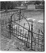 Gated Community In Black And White Canvas Print