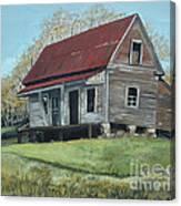 Gates Chapel - Ellijay Ga - Old Homestead Canvas Print