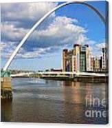 Gateshead Millenium Bridge In Newcastle 6206 Canvas Print
