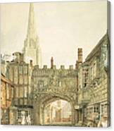 Gateway To The Close, Salisbury Canvas Print