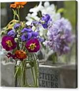 Gathering Wildflowers Canvas Print