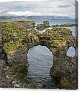 Gatklettur Arch In Hellnar Canvas Print