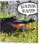 Gator Bait Greeting Card Canvas Print